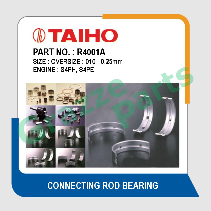 Taiho Con Rod Bearing 010 Size R4001A for Proton Gen2 Gen 2 Persona Preve Saga BLM Waja