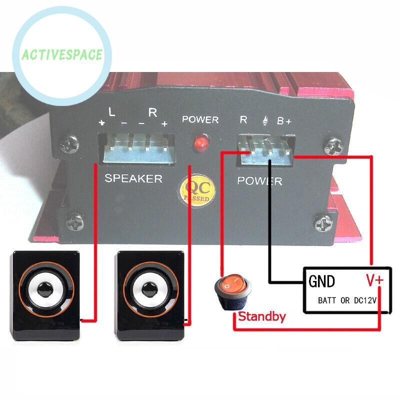 2 CH RSM 500W Car Motorcycle 12V Hi-Fi Stereo Audio Amplifier Amp Subwoofer US