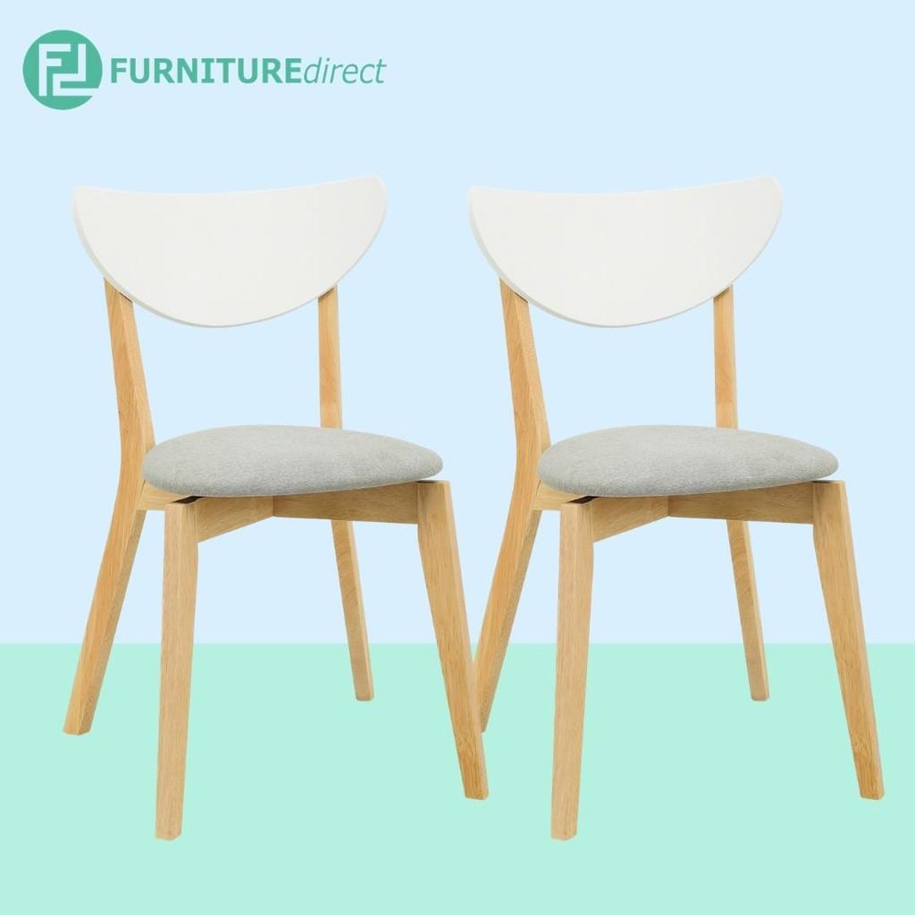 Furniture Direct NAIDA Scandinavian Nodic solid wooden dining chair/ designer chair/ kerusi makan