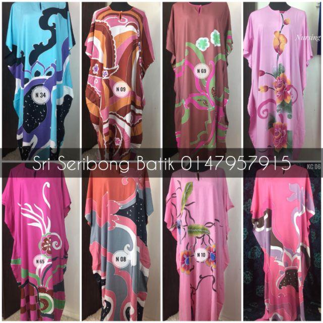 Kaftan/Baju Kelawar Borong Murah (Batik Lukis Asli Premium