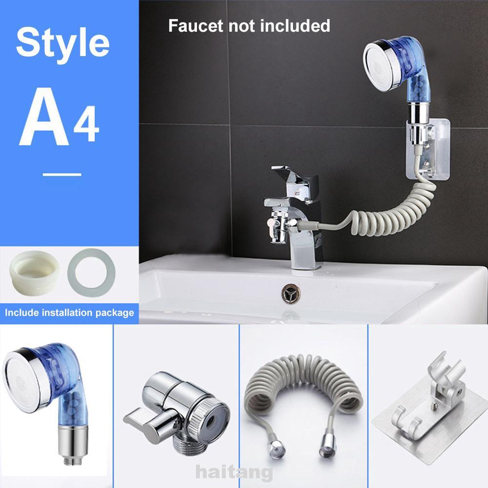 Bathroom 5PCS Basin Sink Hand Sprayer Bath Tub Faucet Mixer Taps Deck Mounted