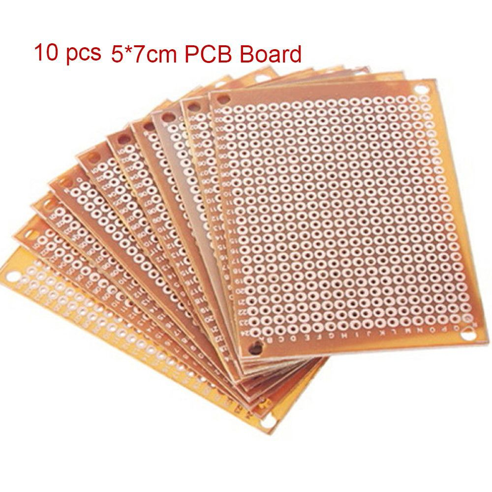 10pcs Diy Pcb Universal Prototype Matrix Circuit Boards Electronic 101 How To Build A Board 5x7cm Shopee Malaysia