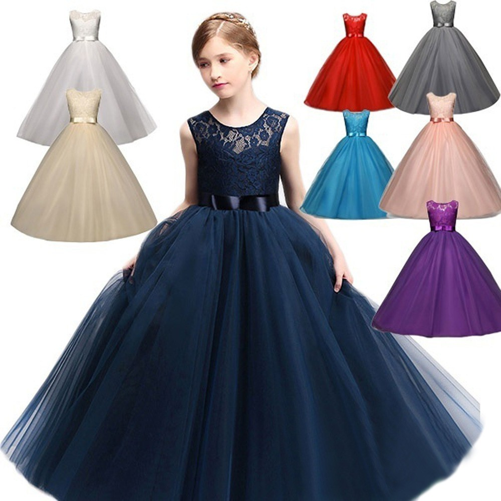 Flower Girl Dress Princess Formal Bridesmaid Party Holiday Everyday Wedding Prom