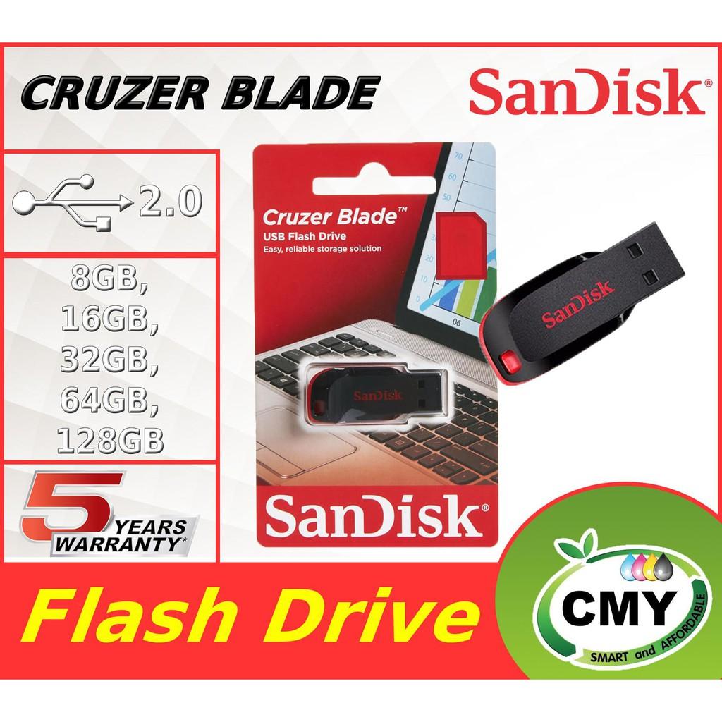 Sandisk Cruzer Blade USB Flash Drive 8GB / 16GB / 32GB / 64GB / 128GB Pendrive