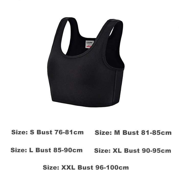 Women Hook Vest Top Corset Straps Sports Tank Bra Chest Slim Fit Binders