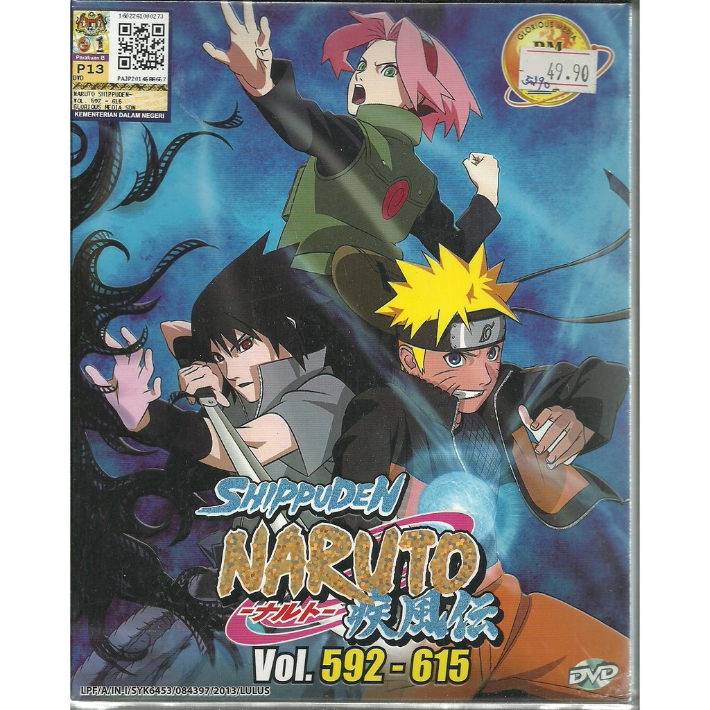 NARUTO SHIPPUDEN (BOX 20) - COMPLETE ANIME TV SERIES DVD BOX SET (592-615  EPIS)