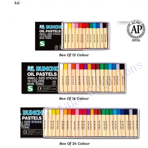 Buncho Oil Pastels 12\'s - 48\'s/Caryon/Color/Coloured