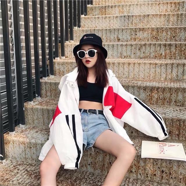 [S~XL]Korean loose large size casual summer thin coat women姐妹装防晒衣女学生森系韩版宽松大码拼接户外休闲夏季薄款外套女