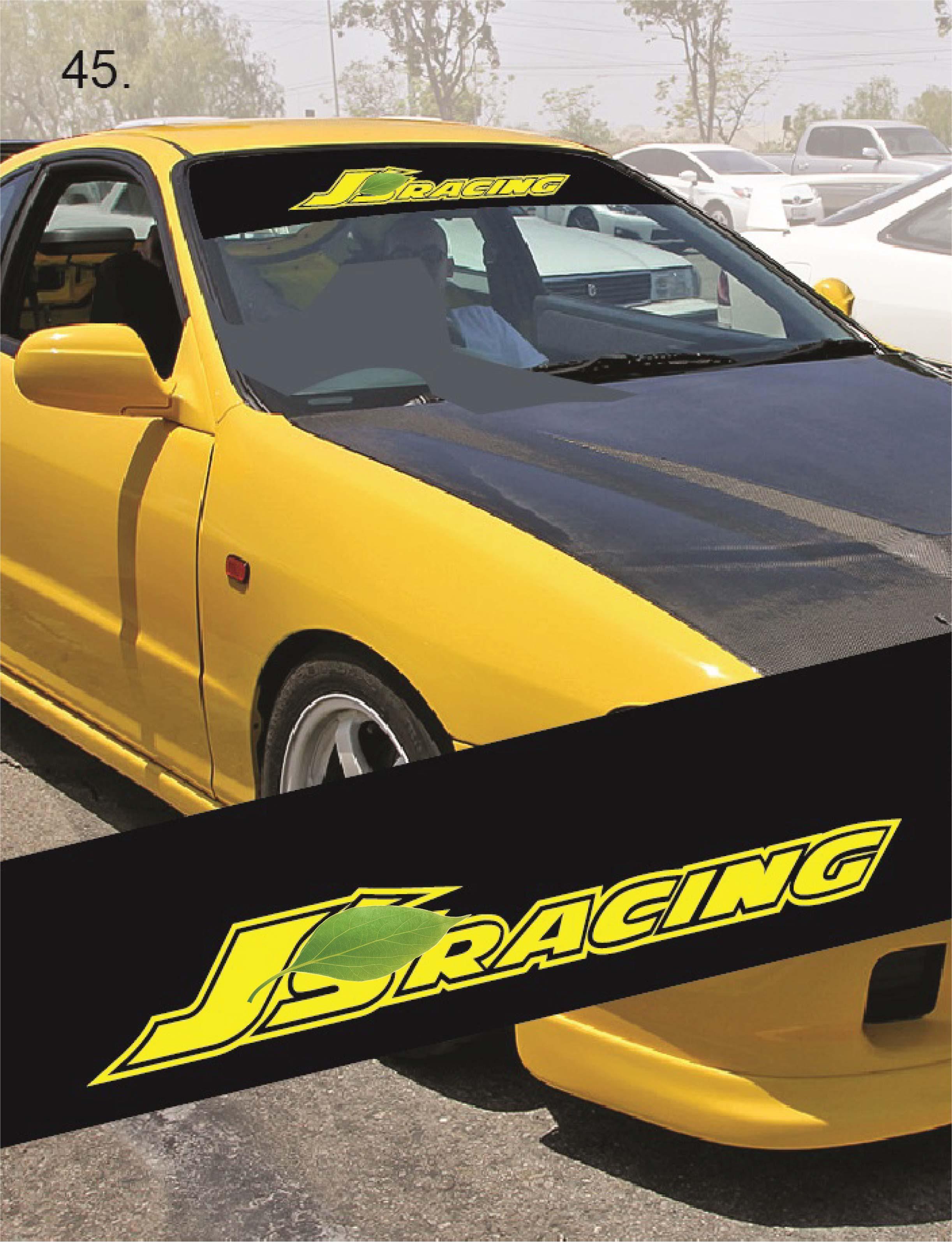 Universal Car Windscreen Sticker Front or Rear Windscreen Windshield for JS (YS45) 10inch X 52inch