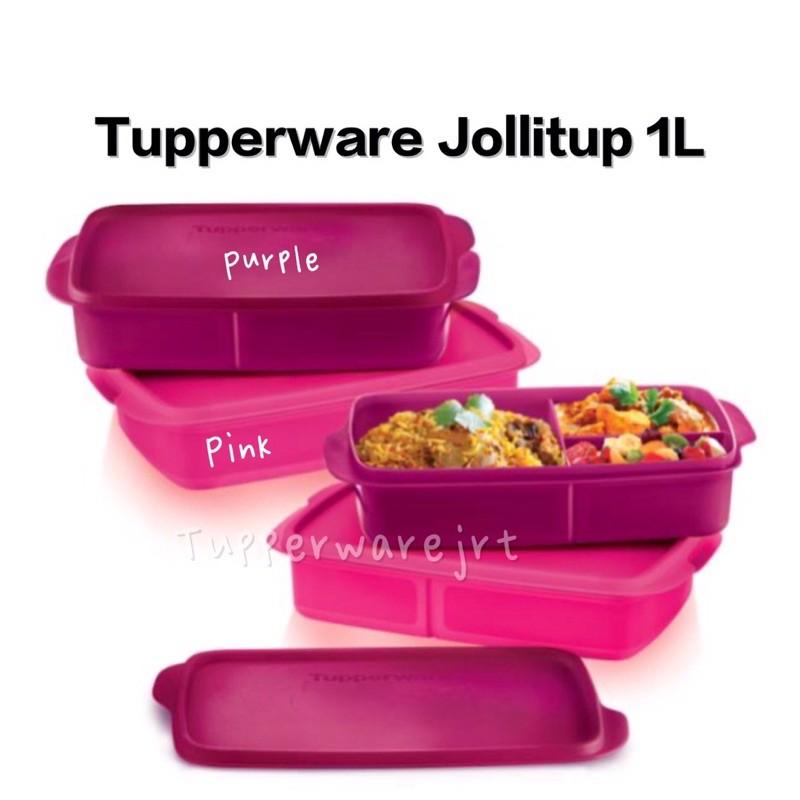 Tupperware Jollitup Jolly Tup Divided Lunch Box 1L x 1pc