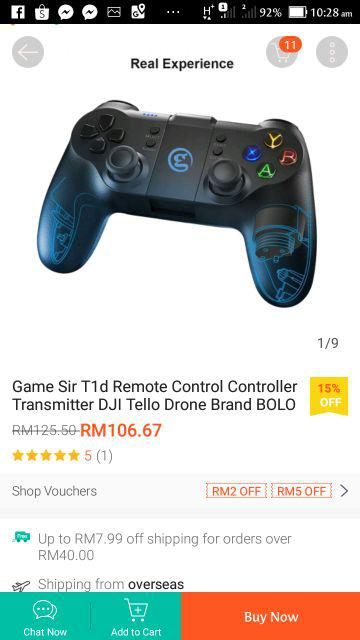 Game Sir T1d Remote Control Controller Transmitter DJI Tello Drone