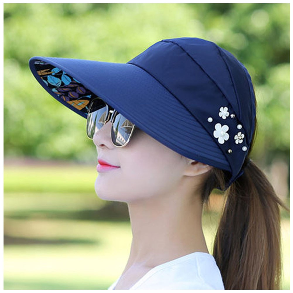 9c8b9d7db5a1bf ProductImage. ProductImage. Women Casual Folding Wide Brim Summer Beach UV Travel  Sun Ladies Floppy Cap