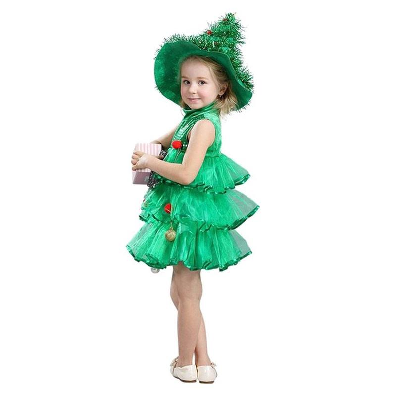 Toddler Christmas Tree Costume.Toddler Kids Baby Girls Christmas Tree Costume Dress Tops Party Vest Hat Outfits