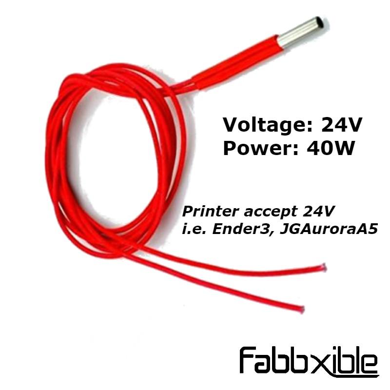 12V//24V 30W//40W Ceramic Cartridge Heater for Arduino 3D Printer Heating Element