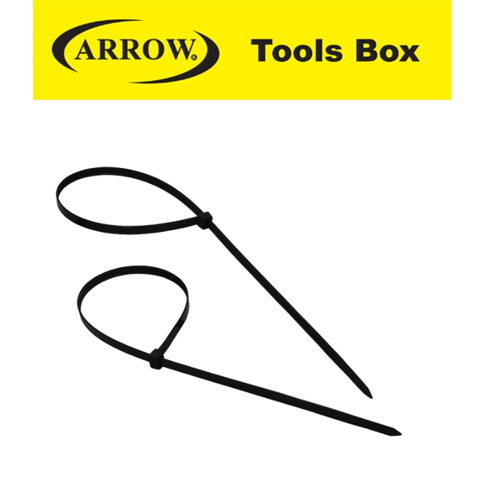 ARROW  NYLON CABLE TIE (BLACK) EASY USE SAFETY GOOD QUALITY