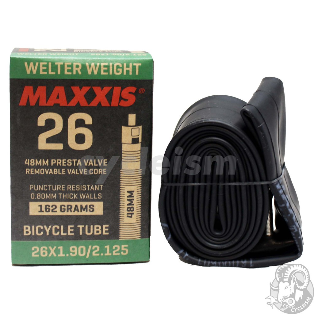 MAXXIS Welter Weight Puncture Resistant Inner Tube Presta//Schrader 26//27.5//29