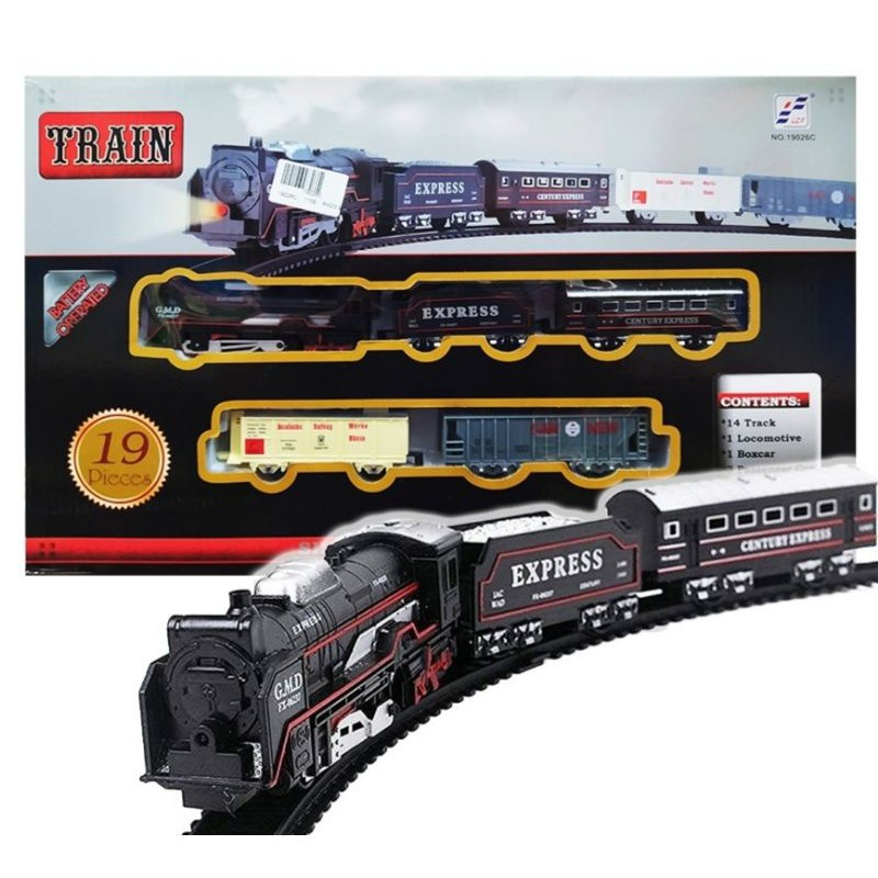 Rail King Electric Classical Train - 19pcs Electric Classical Train Ready stock fun toys for family
