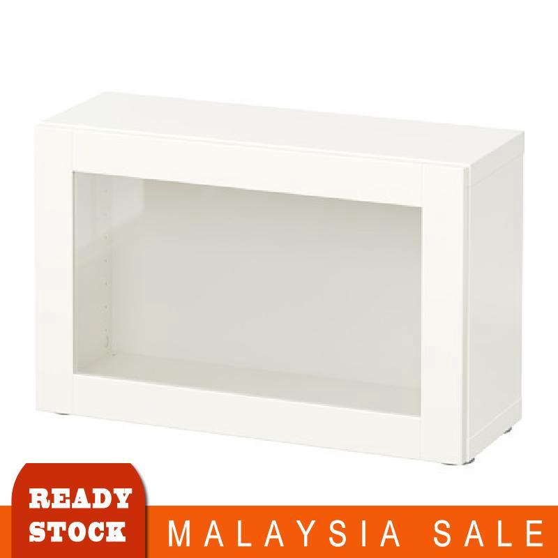 Ikea Besta Shelf Unit With Glass Door Sindvik White 60x20x38 Cm