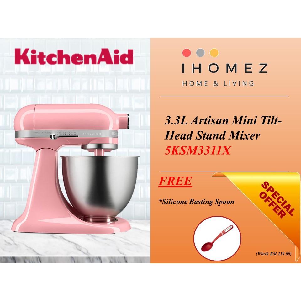 Kitchenaid 3 3l Artisan Mini Tilt Head Stand Mixer Various Colours Free Silicone Basting