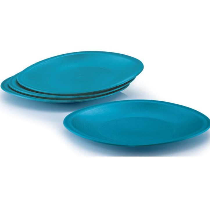 🔥READY STOCK🔥 Tupperware Blossom Plates (4) Turquoise