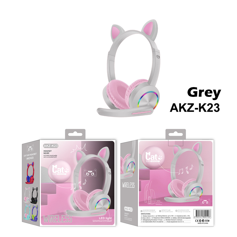 GDeal AKZ-K23 Cat Ear Headset Wireless Bluetooth Headphones With Colourful LED Breathing Light