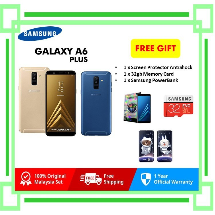 NEW Samsung Galaxy A6+ 4gb ram 32gb rom Original SME