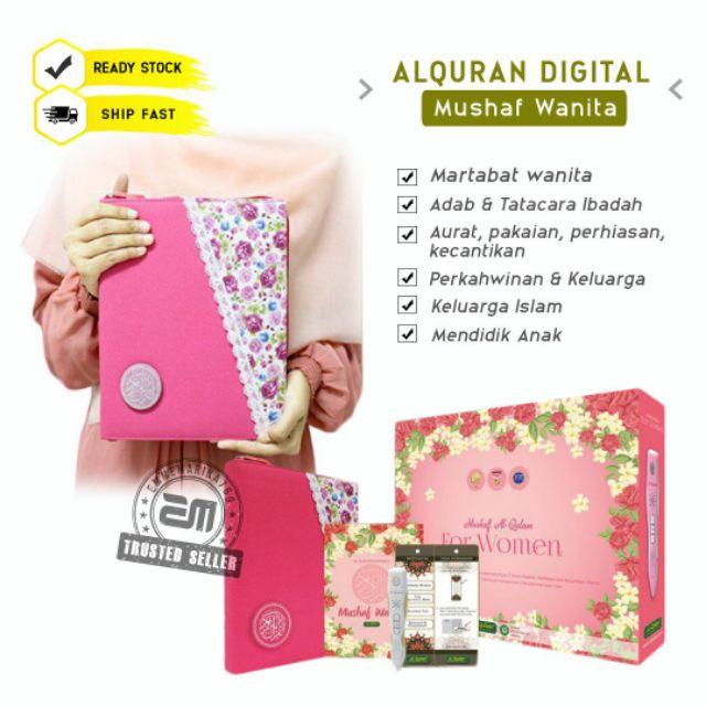 Al Quran Digital Mushaf Wanita Al Qolam A5 Hadiah dan Hantaran Read Pen Emmemarina