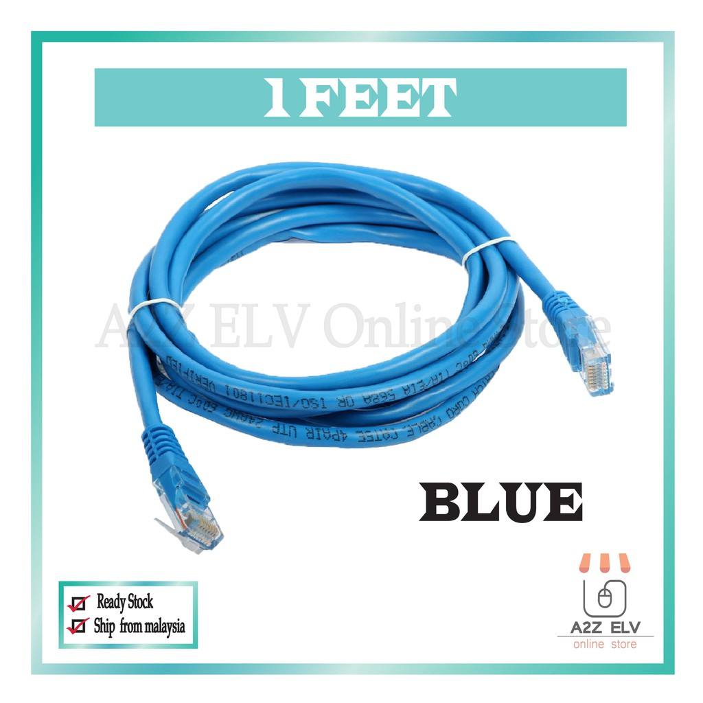 Cat 6 UTP Patch Cord Cable  with 1 Feet