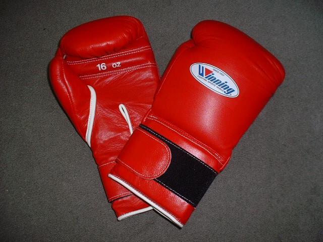 Winning Velcro Training Boxing Gloves 16oz - The Best