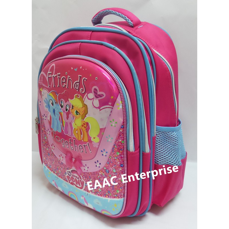 My Little Pony Kid Primary Student School Bag Backpack Beg Sekolah 4 compartment