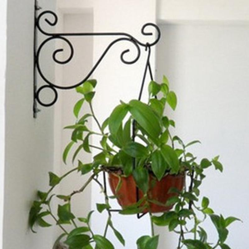 Iron Metal Hanger Hanging Plants Bracket Wall Planter Flower Pot Hooks 25 21cm Shopee Malaysia