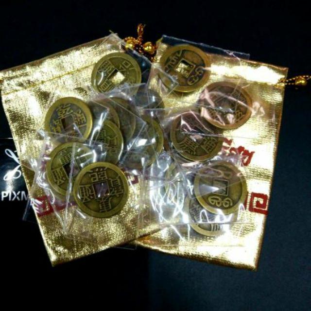 เหรียญดูดเงิน เหรียญอี้จิง เหรียญจีนโบราณ เงินรู นำโชค ของแท้จากแหล่งฮวงจุ้ย ทำพิธ
