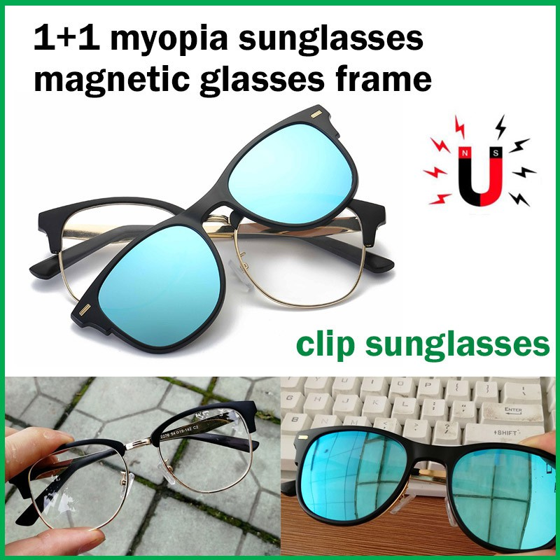 magnet Clip On Polarised Sunglasses night vision Magnetic Clip glasses frame   ad9f2ca144