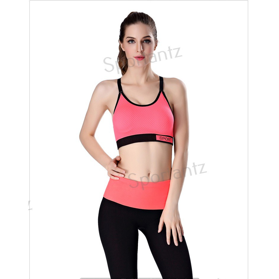 855d3adf277e5 Women Fashion Sport Bra With Wording Strap  Free Size