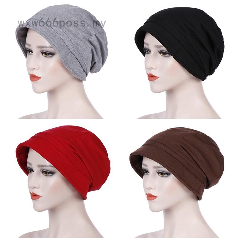 EG/_ Fashion Muslim Women Lace Flower Mesh Hat Beanie Turban Hijab Baggy Cap Good