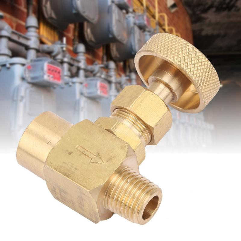 NPT 1//4 Female Thread to NPT 1//4 Male Thread Brass Needle Valve #01 High Pressure Instrument Needle Control Valve Economical Durable /& Easy to Install