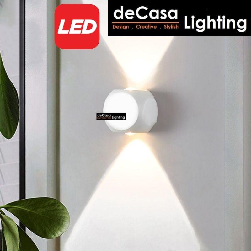 DECASA LIGHTING Outdoor LED Wall Light Designer Outdoor Effect Wall Lamp Lampu Hiasan Dinding (BD09)