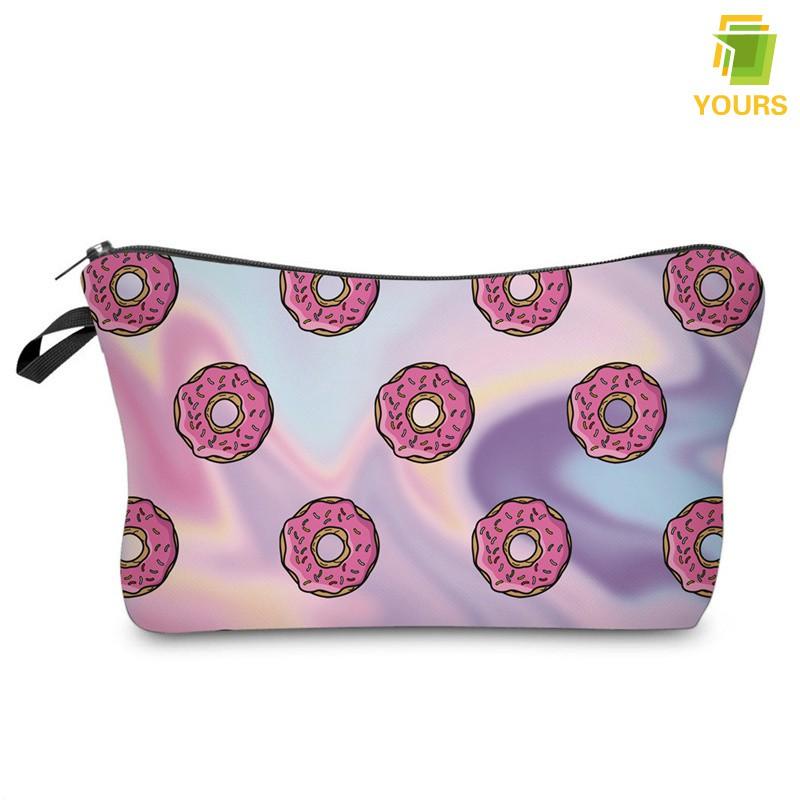 8a4ab8126abf 〖Yours❤〗 Fashion Travel Women Ladies Makeup Bags Doughnuts Printing Zipped  Girls Cosmetic Bag Storag