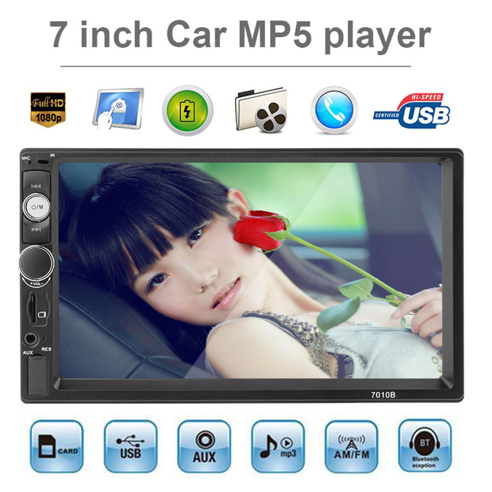 7in Touch Screen Bluetooth Hands-free Car Stereo MP5 Player FM Radio USB