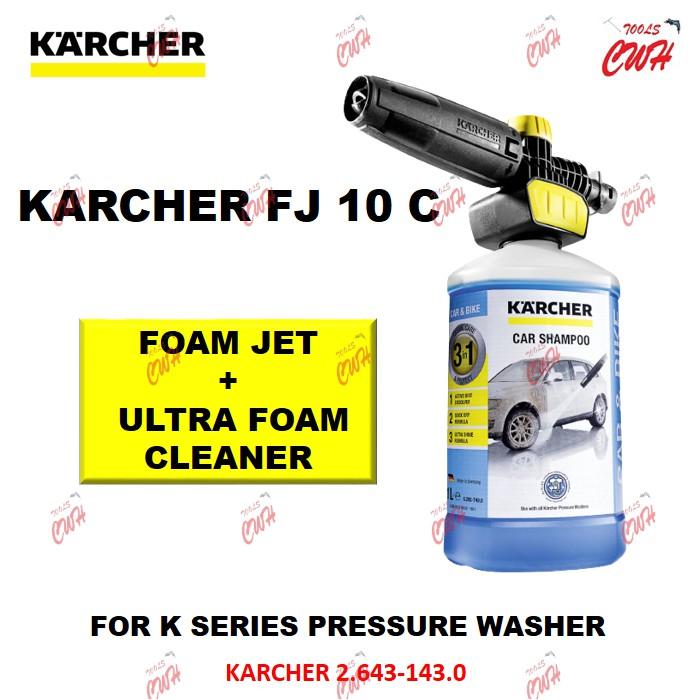 KARCHER  2.643-143.0 FJ 10 C CONNECT 'N' CLEAN FOAM JET + ULTRA FOAM CLEANER DETERGENT SOAP BOTTLE WATERJET
