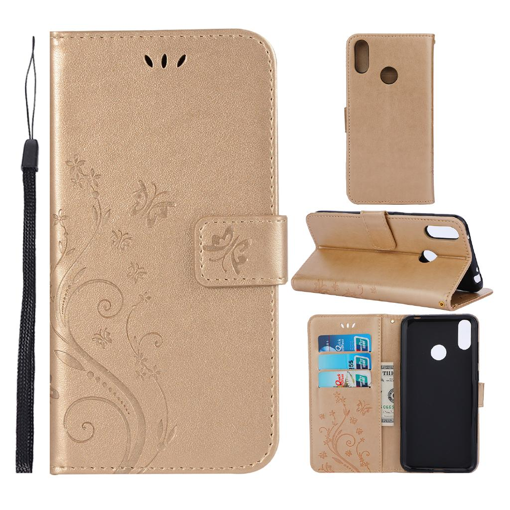 best value 5f3ff 4a522 Huawei Y6 Pro Y6Pro 2019 Honor Play 8A 8X 8C Flip Case Butterfly Phone Cover