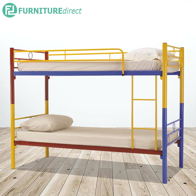LONWAY colorful double decker metal bunk bed
