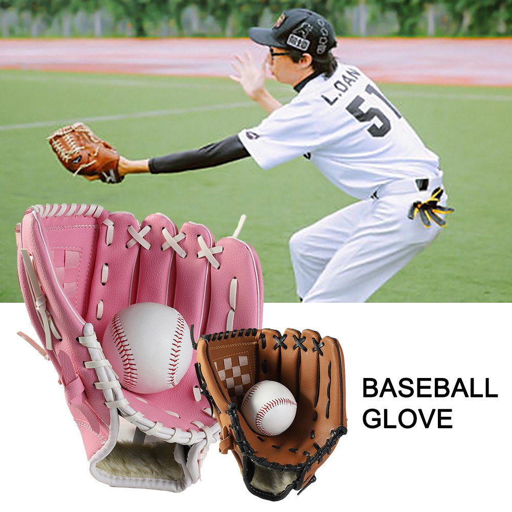 Baseball Softball Gloves Mitts Right Hand Thrower 10.5//11.5//12.5 Inch Leather