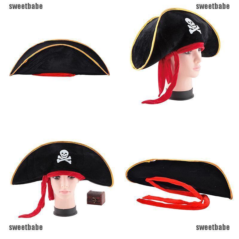 Mock Fancy Dress Accessory Costume Womens Pirate Headband With Mini Hat