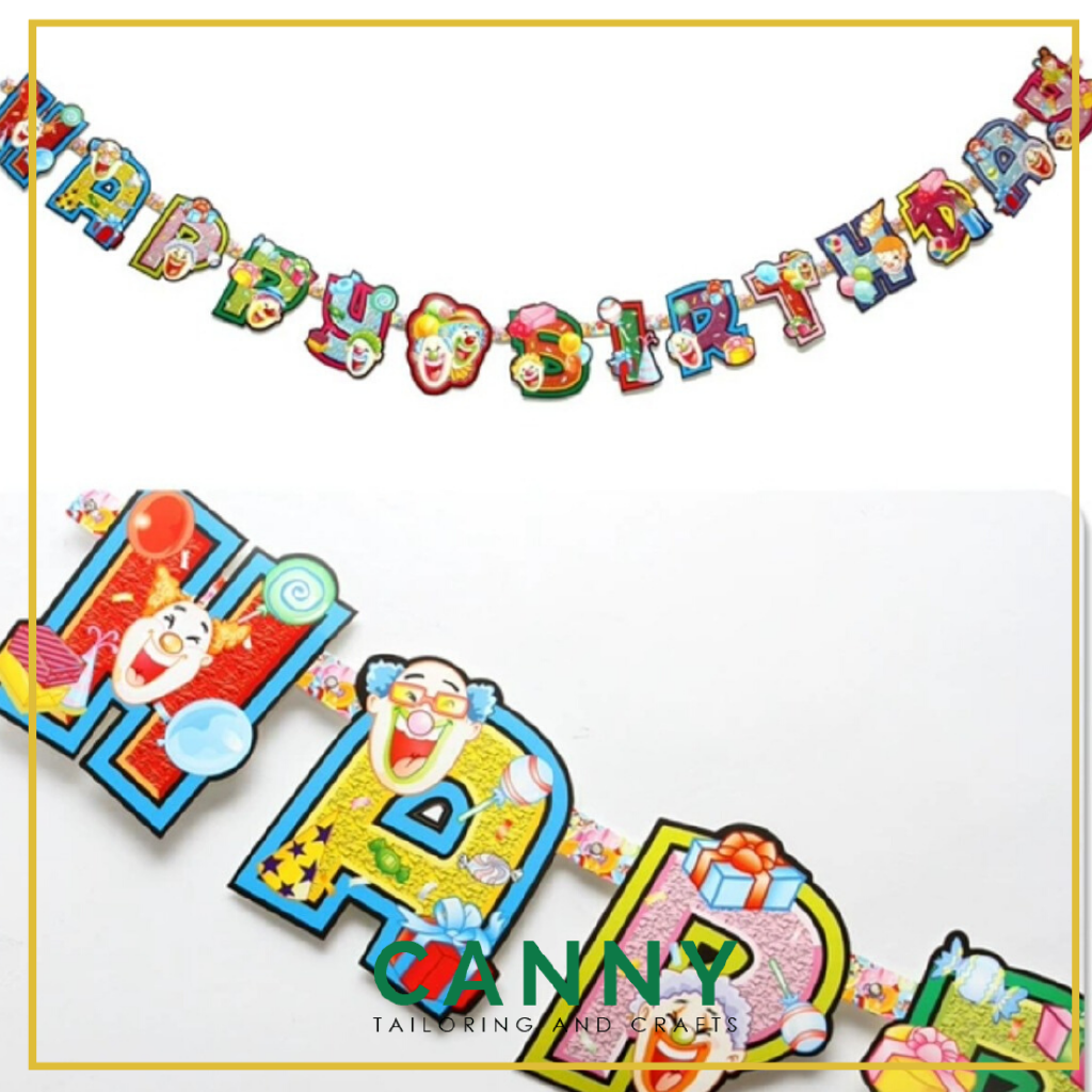 HAPPY BIRTHDAY BANNER FOR DECORATION AND PARTY (1 SET)