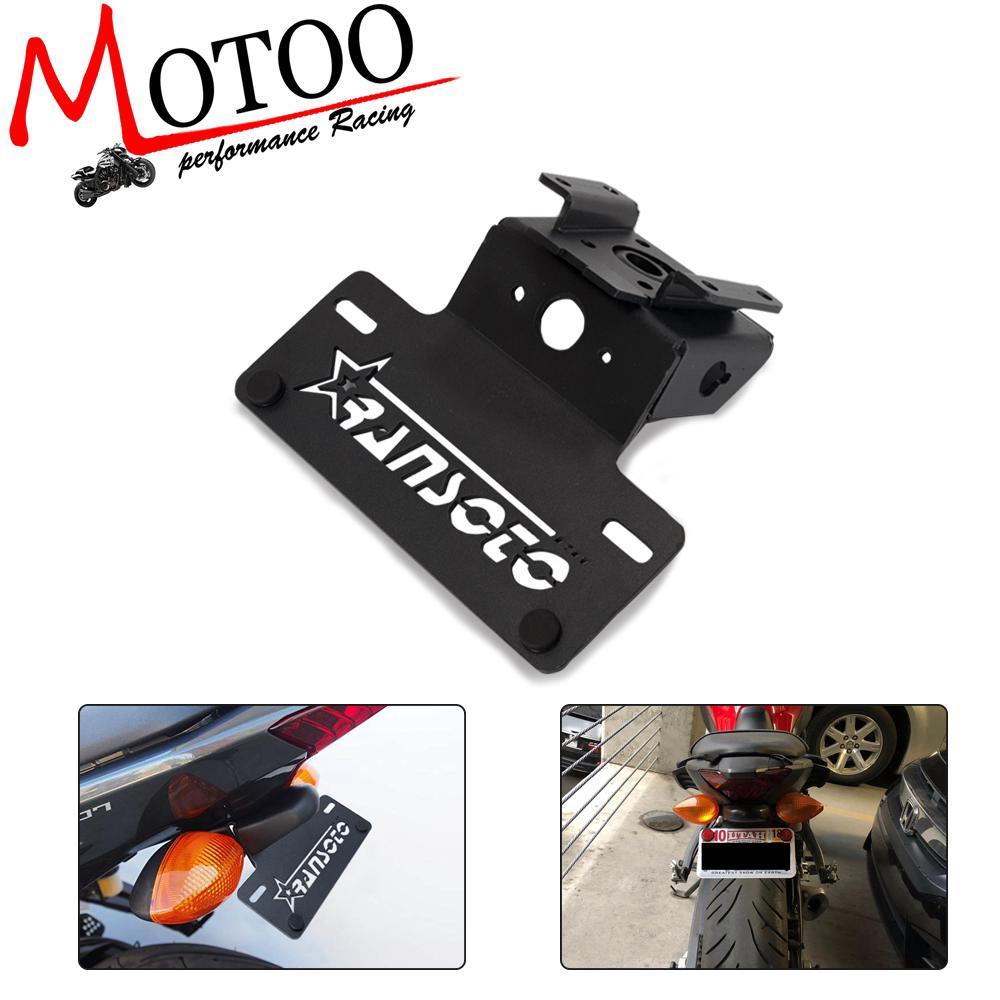 License plate frame For Yamaha YZF-R125 2014 2015 2016 2017 2018 2019 Rear Tail Tidy Fender Eliminator License Plate Holder Bracket R125 2014-2019 Motorcycle Color : Black