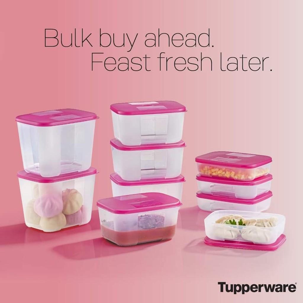 Freezermate pink tupperware/ Bekas simpan ayam daging dan seafood/ bekas kekalkan kesegaran ayam daging dan seafoo