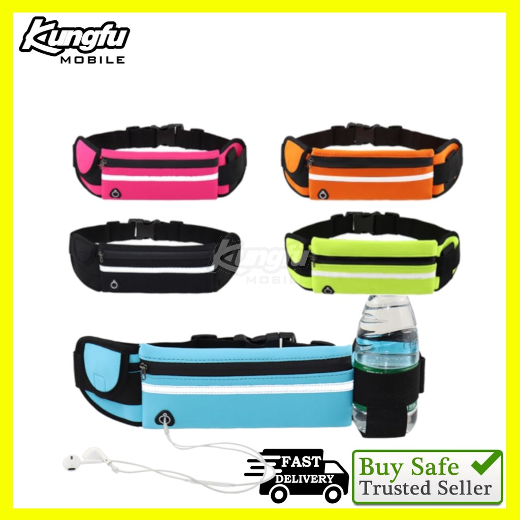 【READY STOCK 】 Waterproof Unisex Running Outdoor Sports Fitness Gym Travel Camping Waist Pouch Pocket Bag