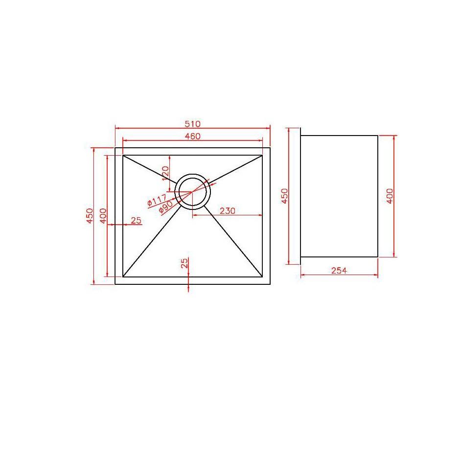 Single Bowl Stainless Steel Sink NKS-5145