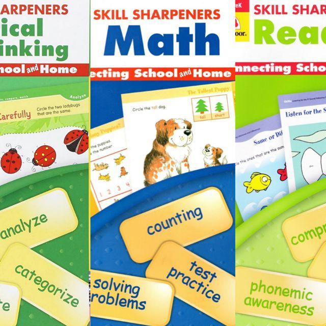 Skill Sharpener Pre-K Series Reading, Math, Critical thinking